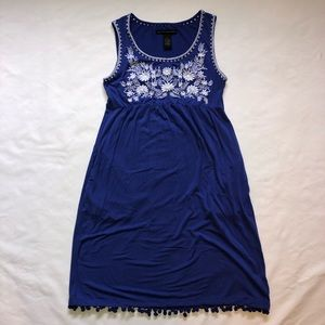 Blue Grace Elements Dress with Pockets Size Small